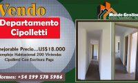 ¡Inmejorable Precio… US$18000! Departamento en Cipolletti